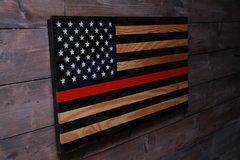 Selling: Rustic TRL-American Wood Flag-Veteran Made-Wall Decor