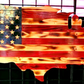 Selling: USA Flag Wood Cut Out - Home Decor