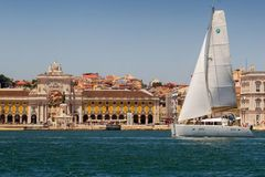 Rent per hour: Lisbon view from the Tagus river