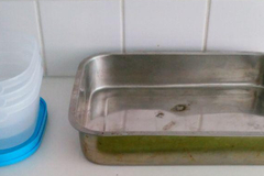 Myydään: Tupperwares (4 pieces) and metal oven dish