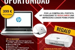 Venta de Productos: PORTATIL HP 15-BA020NS + REGALO IMPRESORA