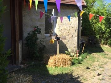 NOS JARDINS A LOUER: Jardin dans un ancien corps de ferme, cadre champêtre