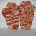Vente au détail: Mules Pur Laine tricotées et feutrées - Création Unique