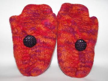 Vente au détail: Mules bouton Pur Laine tricotées/feutrées - Création Unique