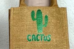 Vente au détail: Petit sac cabas en toile de jute pailletée