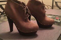 Selling: Tan Leather Bootie