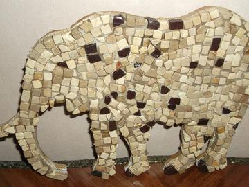 Vente au détail: Elephant réalisé en pierres naturelles
