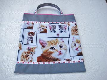 Vente au détail: Sac de bibliothèque pour la maternelle thème chats