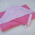 Vente au détail: Cape de bain grande taille en éponge rose et coton