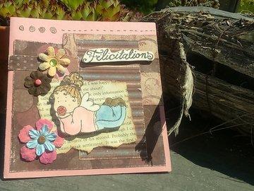 Vente au détail: Carte félicitations naissance fille