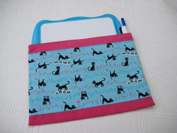 Vente au détail: Pochette de rangement pour ardois effaçable thème chats