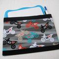 Vente au détail: Pochette de rangement pour ardois effaçable thème motos