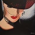 Vente au détail: Tableau acrylique Femme à la voilette