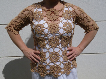 Vente au détail: Top au crochet