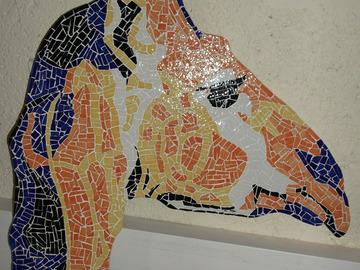 Vente au détail: Tête de Girafe colorée