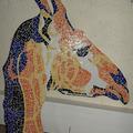 Sale retail: Tête de Girafe colorée