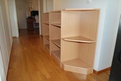 Myydään: Small shelf with corner piece (3 pieces)