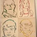 Vente au détail: Portrait personnalisé en bois découpé Style POP ART