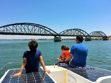 Rent per half day: Private Half Day on an Incredible Solar Boat (4 Hours)