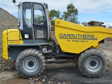 Daily Equipment Rental: Wacker Neuson DW 90 Forward Tipping Dumper