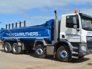 Daily Equipment Rental: DAF 32 Tonne 8 Wheeler Tipper Truck