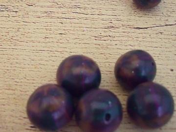 """Sale retail: Perles maison en pâte polymère """"Cuivre violet """""""