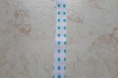 Vente au détail: ruban biais blanc à poids bleu turquoise