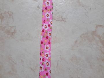 Sale retail: ruban biais sixties à motifs fleurs