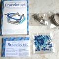 Vente au détail: set création bracelet perles bleues