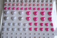 Vente au détail: planche 129 perles stickers autocollants