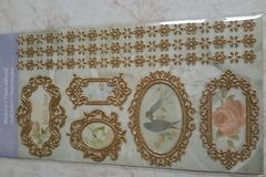 Vente au détail: stickers dorés 3D adhésifs