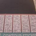 Vente au détail: cartes stickers autocollantes contours à colorier