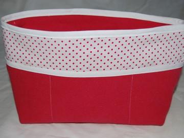 Sale retail: Organiseur de sac en tissu rose et blanc