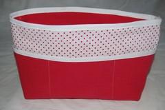 Vente au détail: Organiseur de sac en tissu rose et blanc