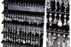 Sell: 96 PC SWAROVSKI CRYSTAL NAVAL BELLY JEWELRY LOT WITH DISPLAY