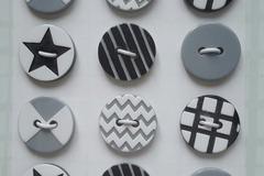 Vente au détail: boutons à coudre assortiment 12