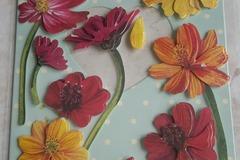 Vente au détail: stickers fleurs 3D adhésifs
