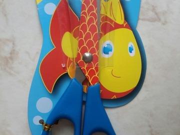 Sale retail: ciseaux enfant imprimé poisson rouge