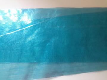 Sale retail: ruban organza bleu opaque turquoise