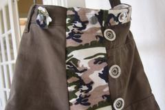 Vente au détail:  Sac bandoulière imprimé camouflage armée vert/kaki