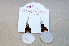 Selling: Mother of Pearl Dangle Earrings - Womens Earrings