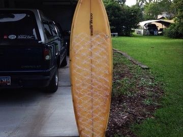 "For Rent: 6' 4"" vintage single fin"