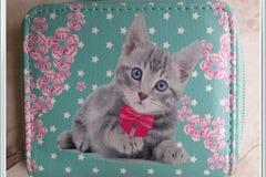 Vente au détail: porte-monnaie chaton pour enfant
