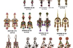 Sell: CATALOG OF QUALITY CRYSTAL EARRINGS, 100's OF STYLES.