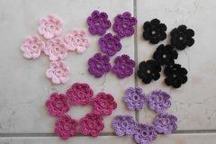 Vente au détail: fleurs multicolore coton dmc au crochet pour creation