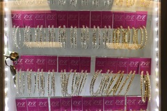 Sell: LED DISPLAY WITH 48 PAIRS OF CRYSTAL HOOPS EARRINGS