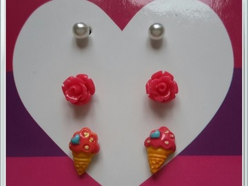 Sale retail: boucles d'oreille asst