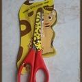 Vente au détail: ciseaux enfant imprimé tigré