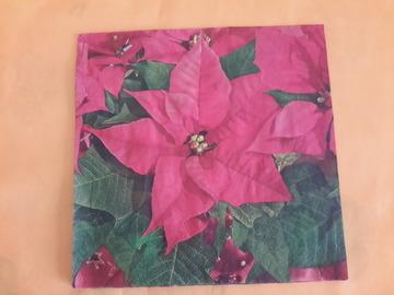 Sale retail: serviette en papier fleur poinsettia