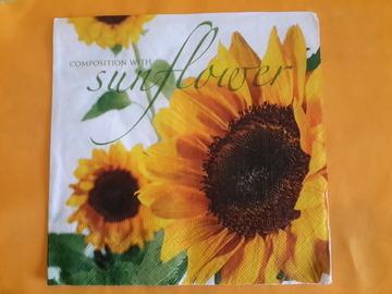 Sale retail: serviette en papier fleur tournesol
